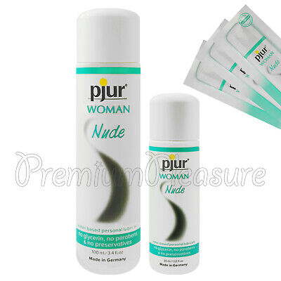 pjur WOMAN Nude lubricant * Waterbased premium personal glide lube * Natural *