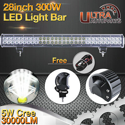 28inch 300w CREE LED Light Bar Flood Spot Combo Driving Offroad 4WD ATV UTE 180W