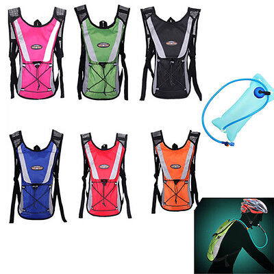2L Hydration Packs Water Rucksack/Backpack Bladder Bag Cycling Hiking Camping
