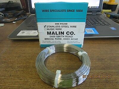 New Malin Stainless Steel Wire One Lb Dia 022 28026