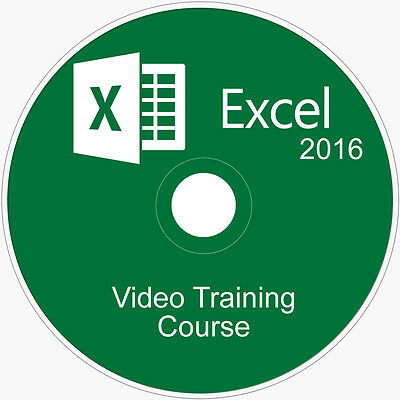 Learn Microsoft Office:excel 2016 Course Video Tutorial Training Guide On Dvd