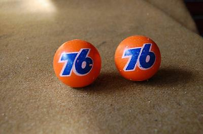 Pair Of Two Nos Vintage Union 76 Antenna Balls Never Mounted Free Shipping