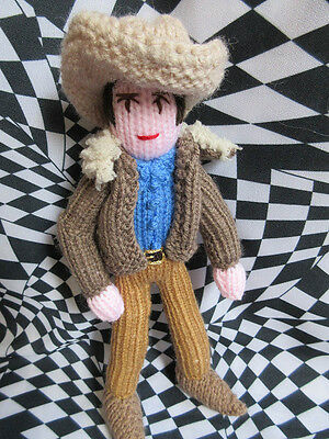 Limited Edition Handmade Townes Van Zandt doll in wool