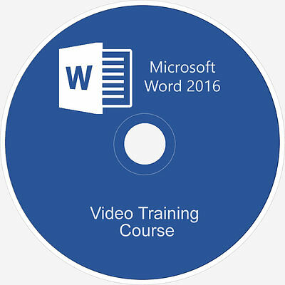 Learn Microsoft Office:word 2016 Course Video Tutorial Training Guide On Dvd
