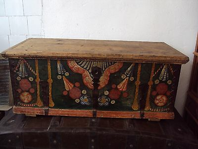 19th Century Romanian Painted Wedding Chest