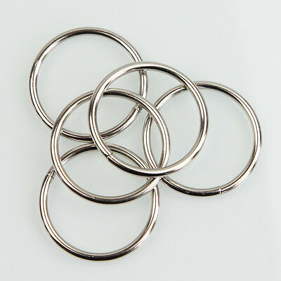"10X 1.57"" Nickel Non Welded Metal Round O Ring for Bags Key Chains Key Rings NS"
