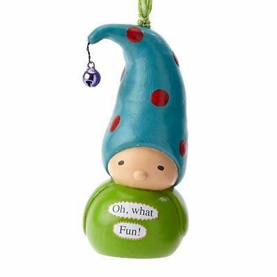 Enesco Christmas Holiday Collectible Bea's Wees 4″ Ornament Oh What Fun 4039596