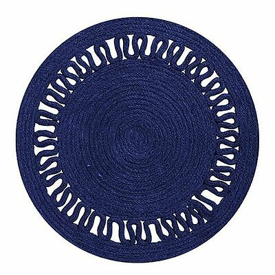 NEW j.elliot HOME Evelyn Jute Placemat, Navy