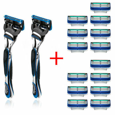 16x Gillette Fusion Proglide Manual Razor Blades Cartridge/Handle/Shaver/Shaving