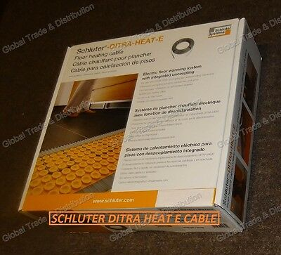 Schluter Systems DITRA-HEAT-E Floor Heating DHEHK Cable All Sizes 120V & 240V