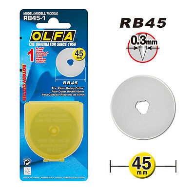 OLFA RB45-1 45mm Rotary Cutter Replacement Blade (1pk) *NEW*