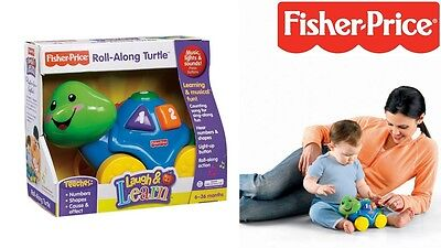 Roll-Along Turtle Fisher Price Toy Music, Lights & Sounds Learn Numbers 6-36Mths