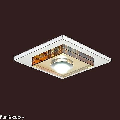 3W Led Amber Crystal Ceiling light, 1 light, Flush Mounted Clearance Sale