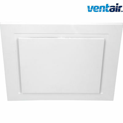 Ventair Airbus Square White 250Mm Ceiling Exhaust Fan Commercial Grade