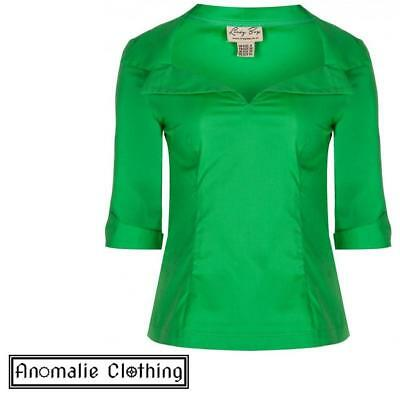 Green Cilla Top - Discontinued - One UK 8 (AU 6) left!