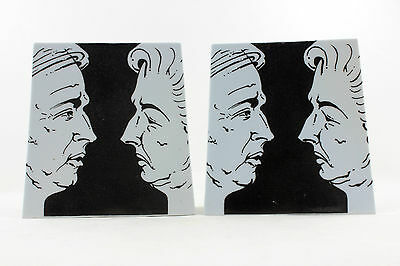 an unusual pair of Margaret Thatcher / Arthur Scargill bookends. Political