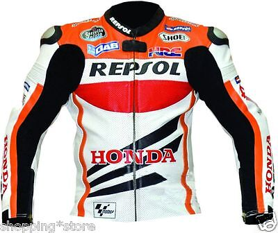 Repsol Racer Motorbike Leather Jacket Motorcycle Leather Jacket All-Size