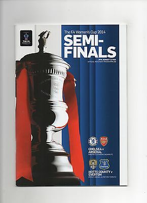 Women's FA Cup S-Finals Chelsea v Arsenal / Notts Co v Everton 2014