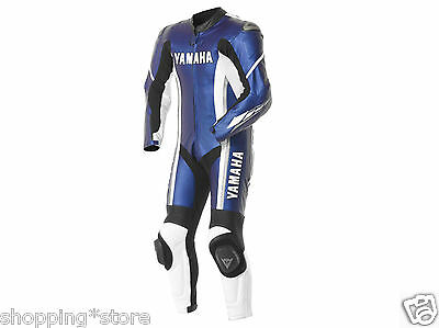 Yamaha Motorcycle Cowhide Leather Suit Motorbike Biker Leather Suit One-Piece