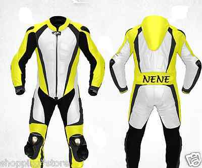 *free Name* Motorbike Leather Suit Motorcycle Jacket Trouser Racing Leather Suit