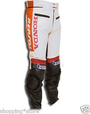 Repsol Motorcycle Leather Trouser Motorbike Pant Leather Trouser Xs-4Xl