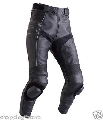 Men's Motorcycle Racing Trouser Leather Motorbike Pant Leather Trouser All-Size