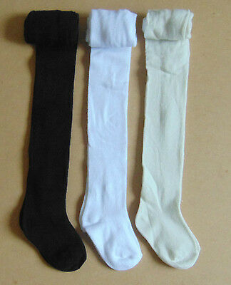 3 x pairs of tick tock baby winter tights ,white,cream and black