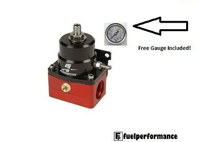 Genuine Aeromotive A1000 Fuel Pressure Regulator #13101 - With Pressure Gauge