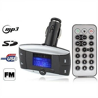 TECH Black Car Bluetooth MP3 Player with FM Transmitter, Support USB Flash Disk