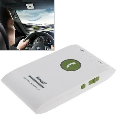 TECH White Hands Free Kit Bluetooth 4.0 In-car Multipoint Speakerphone Speaker