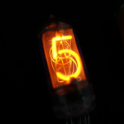 6 pcs ULTRARARE FINE GRID NIXIE TUBES IN-8-2 (as IN-14) Soviet Neon DIGITS