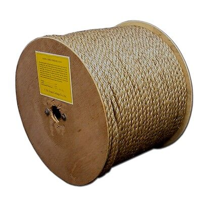 """T.W . Evans Cordage 25-033 3/8"""" by 300-Feet Pure Number-1 Manila Rope Reel New"""