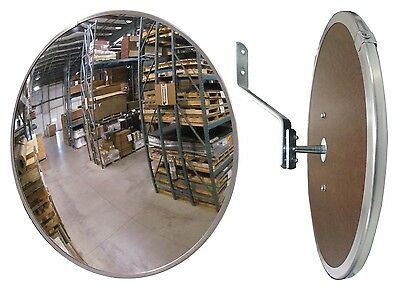 "#1 Industrial Indoor 12"" Dia. POLYCARBONATE Safety & Security Convex Mirror"