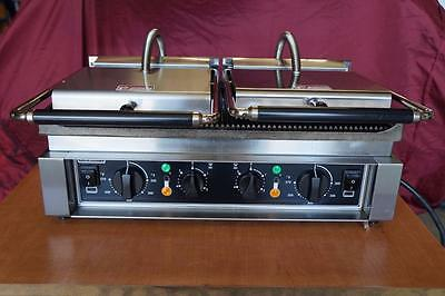 Hobart HCG2 Grooved Plate Panini Grill for Sandwiches Comes w/ 30 Day Warranty!
