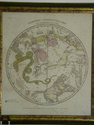 Antique Elijah Burritt Astrological Map of the Constellations 1835