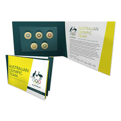 2016 $2 Australian Olympic Team Colour Rings 5 coin set  SOLD OUT AT MINT