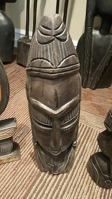 20+ Year Old West African Hand Carved Mahogany Wood Sculptures