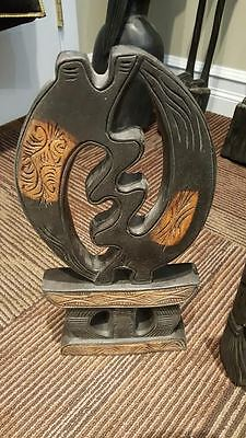 20+ Year Old West African Hand Carved Mahogany Wood Gyname