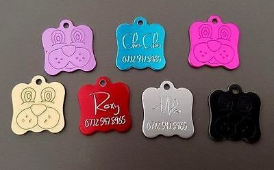 Deep engraving Dog Tag Pet Id Dog Puppy Collar Name Disc Disk Tags Post Free!