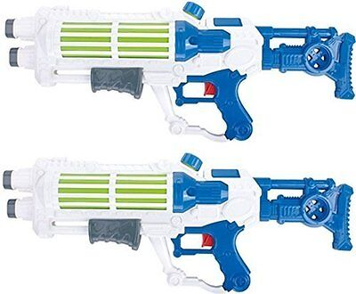 "2 x Water Guns Pistols 19"" Galaxy Wars Pump Action Water Cannon Kids Summer Toys"