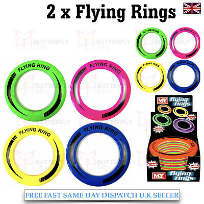 "2 x 10"" Outdoor Kids Flying Disc Ring Frisbee Playful Fun Disc Flying Ring"