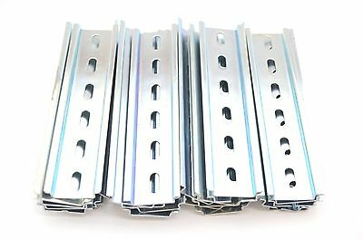 30 Pieces DIN Rail Slotted Steel Zinc Plated RoHS 6 in. long 35mm 7.5mm 15 ft.