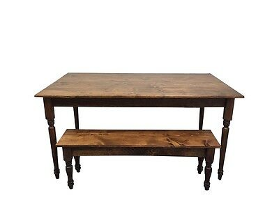 Franklin Farmhouse Table (Rustic Harvest Farmhouse Kitchen Dinning Table)