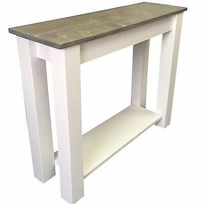 Cottage Sofa Table (Entry Table, End Table, Foyer Console Table shelf storage)