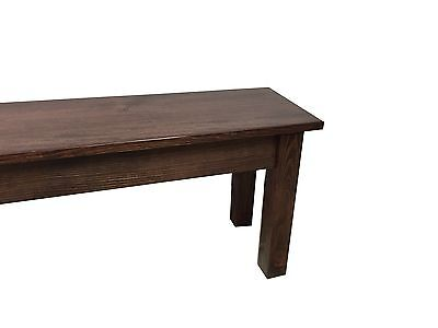 Red Mahogany Farmhouse Bench (Rustic / Dinning / Entryway / Mudroom  Foyer Bench