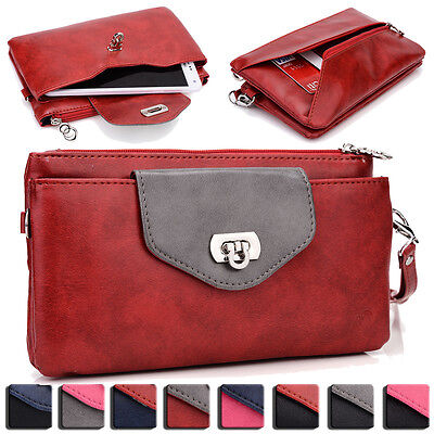 Womens Fashion Smart-Phone Wallet Case Cover & Evening Purse EI64-6