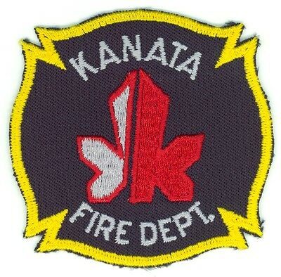 Vintage KFD Kanata Fire Department Uniform Patch Ontario ON - Gold