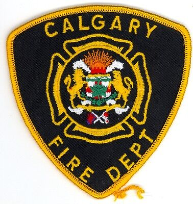 Vintage Calgary Fire Department Uniform Patch Alberta AB Canada