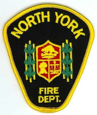 Vintage North York Fire Department Uniform Patch Ontario ON Canada