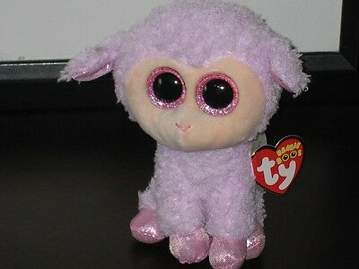 ty BEANIE BABY BOO ORCHID EXCL EASTER LAMB MWMT 2016 RED HEART TAG SPARKLE EYES